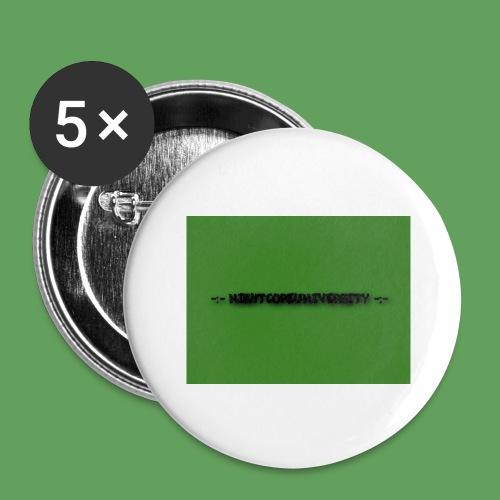 NightcoreUniversity - Stora knappar 56 mm (5-pack)