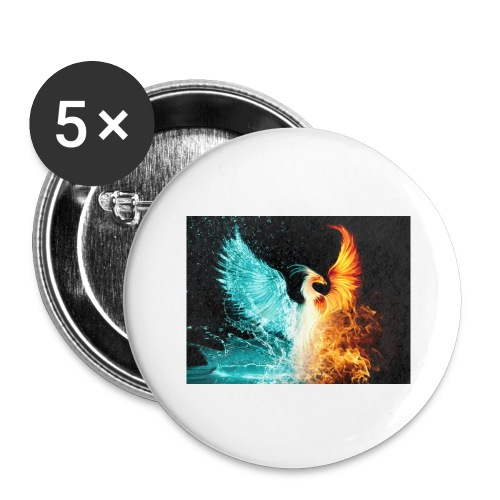 Elemental phoenix - Buttons large 2.2''/56 mm (5-pack)