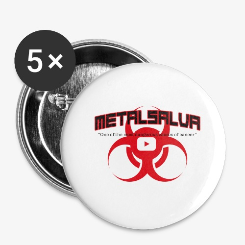 METALSALVA Cancer #1 - Confezione da 5 spille grandi (56 mm)