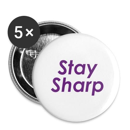 Stay Sharp - Confezione da 5 spille grandi (56 mm)
