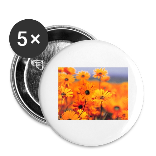 Flower Power - Buttons large 2.2''/56 mm (5-pack)