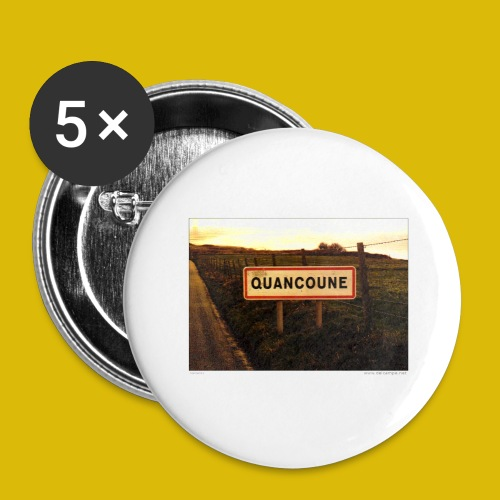 Lieux insolites - Lot de 5 grands badges (56 mm)