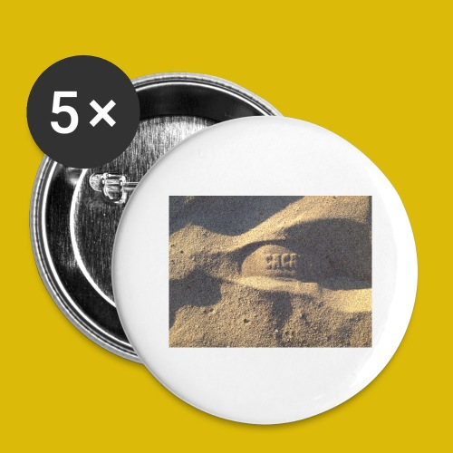 Caca - Lot de 5 grands badges (56 mm)