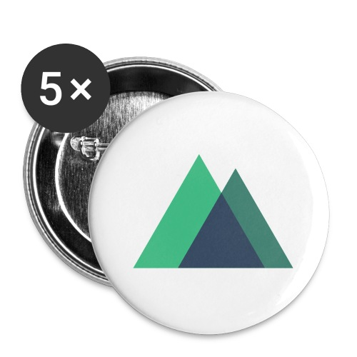 Mountain Logo - Buttons large 2.2''/56 mm(5-pack)