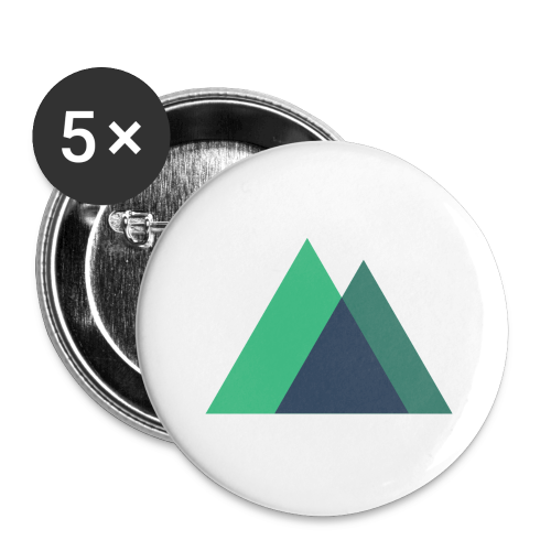 Mountain Logo - Buttons large 2.2''/56 mm (5-pack)
