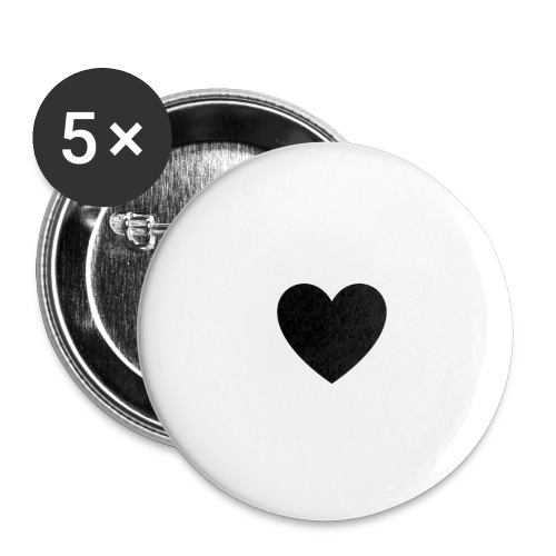 heart - Stora knappar 56 mm (5-pack)
