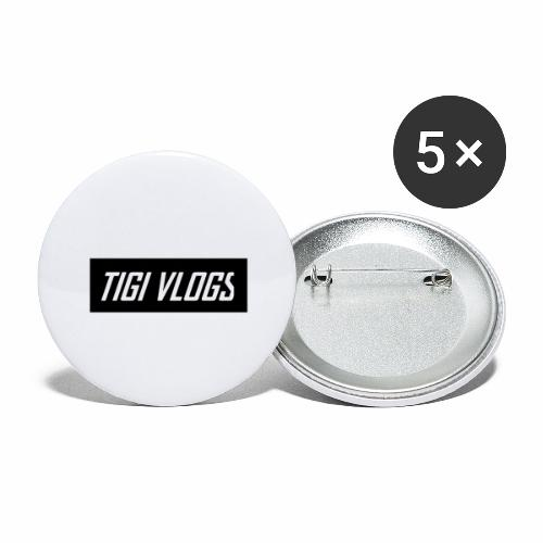 TigiVlogs Merch 2.0 - Stora knappar 56 mm (5-pack)