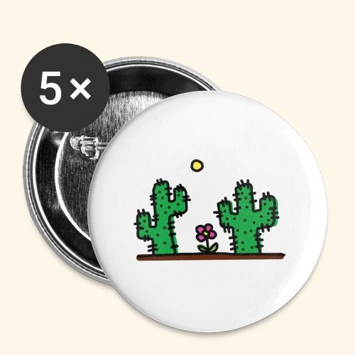 Cactus - Confezione da 5 spille grandi (56 mm)