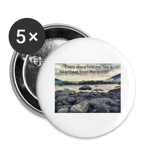 Oceanheart - Stor pin 56 mm (5-er pakke)