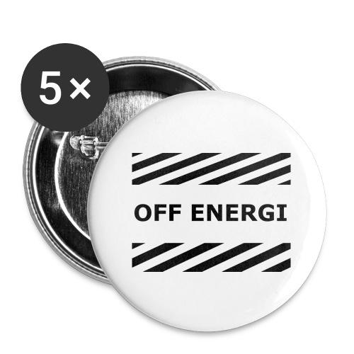 OFF ENERGI officiel merch - Stora knappar 56 mm (5-pack)