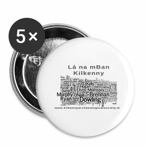 Lá na mBan black - Buttons large 2.2''/56 mm(5-pack)