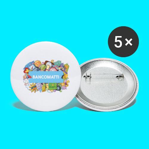 Bancomatti DOODLE 1 - Confezione da 5 spille grandi (56 mm)