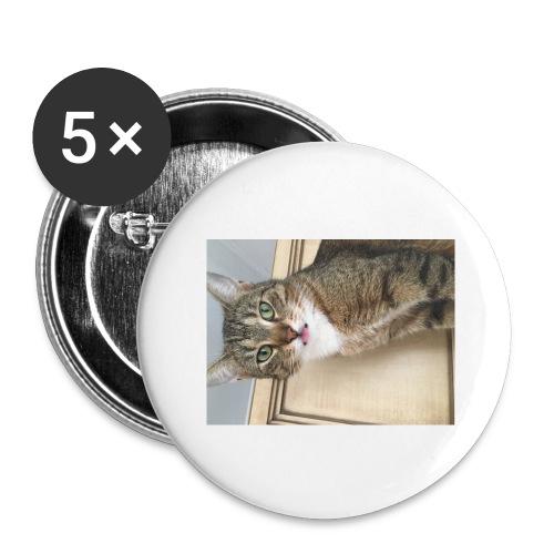 Kotek - Przypinka duża 56 mm (pakiet 5 szt.)