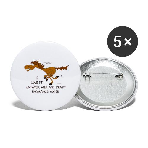 Endurance Horse - Buttons groß 56 mm (5er Pack)