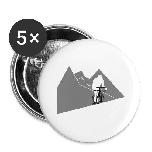 Kletterer - Buttons groß 56 mm (5er Pack)