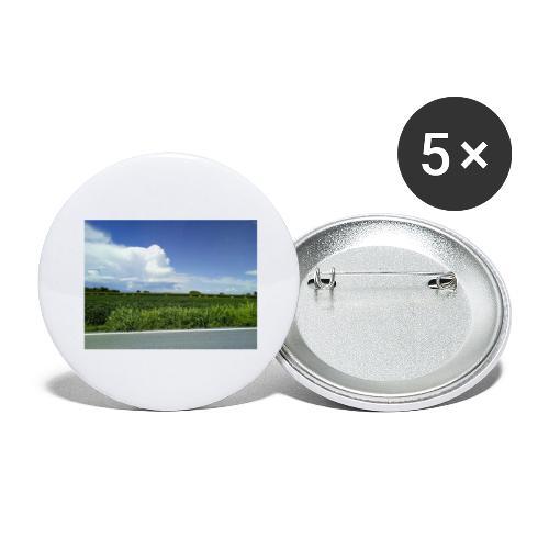 prato verde - Confezione da 5 spille grandi (56 mm)