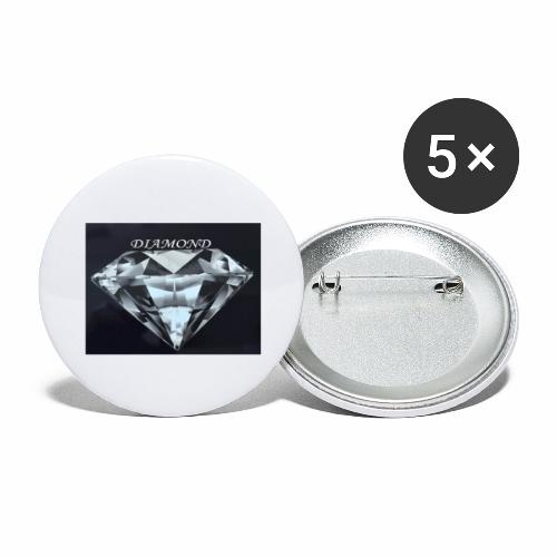 Diamond - Stora knappar 56 mm (5-pack)