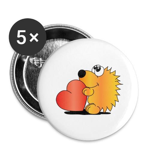 Igelchen - Buttons groß 56 mm (5er Pack)