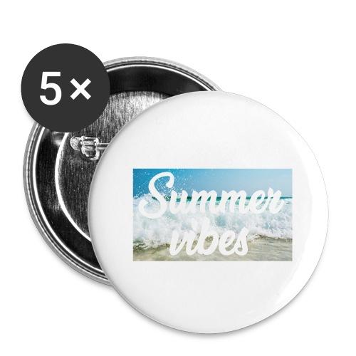 Summervibes - Buttons groß 56 mm (5er Pack)