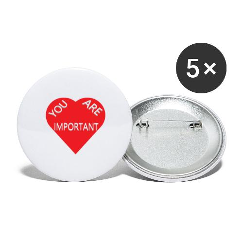 you are important - Buttons/Badges stor, 56 mm (5-pack)