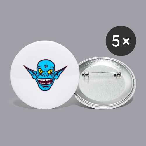 Monster - Buttons groß 56 mm (5er Pack)