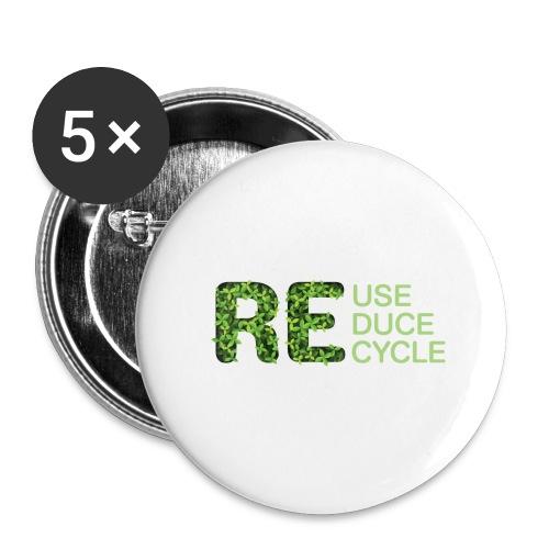 REuse REduce REcycle - Confezione da 5 spille grandi (56 mm)