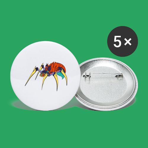 spider man frankenstein monster computer icons car - Confezione da 5 spille grandi (56 mm)