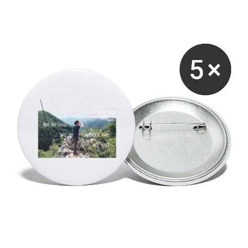 Not all those who wander are lost - Buttons groß 56 mm (5er Pack)