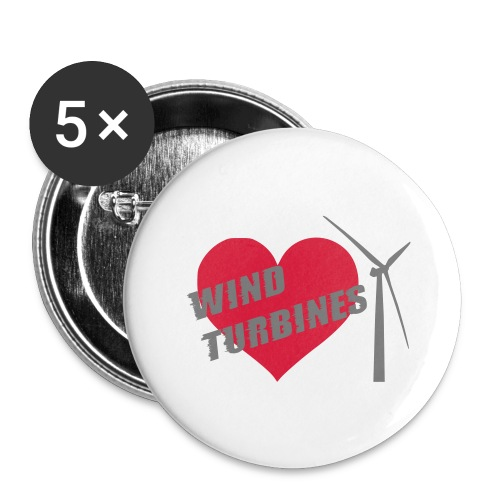 wind turbine grey - Buttons large 2.2''/56 mm(5-pack)
