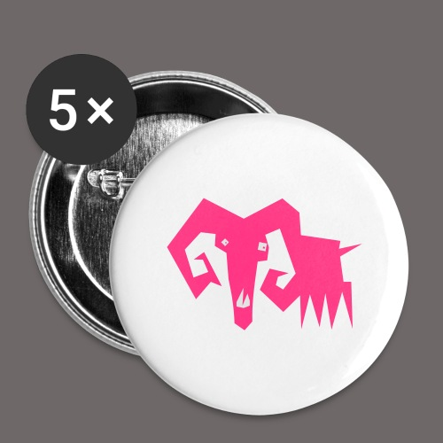 grosse ziege - Buttons groß 56 mm (5er Pack)