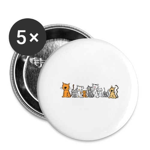 Cats & Cats - Buttons groot 56 mm (5-pack)