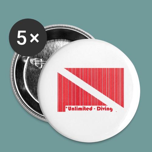 flag_barre_ud - Lot de 5 grands badges (56 mm)