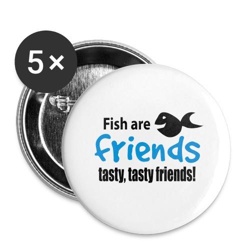 Fisk er venner - Stor pin 56 mm (5-er pakke)