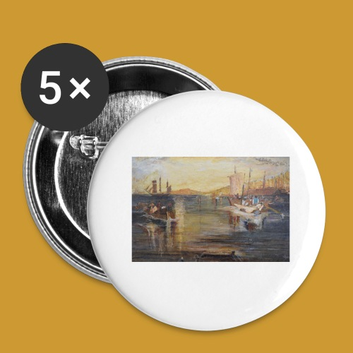 White Fishing - Mark Noble Art - Buttons large 2.2''/56 mm(5-pack)
