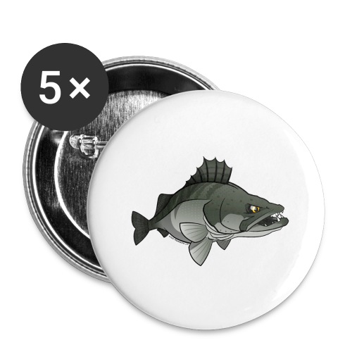 Red River: Zander - Buttons large 2.2''/56 mm(5-pack)