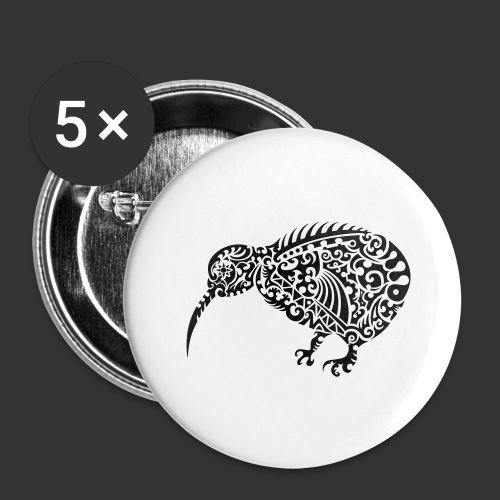 Kiwi Maori - Buttons groß 56 mm (5er Pack)