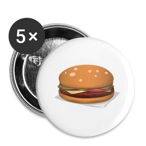 hamburger-576419 - Confezione da 5 spille grandi (56 mm)