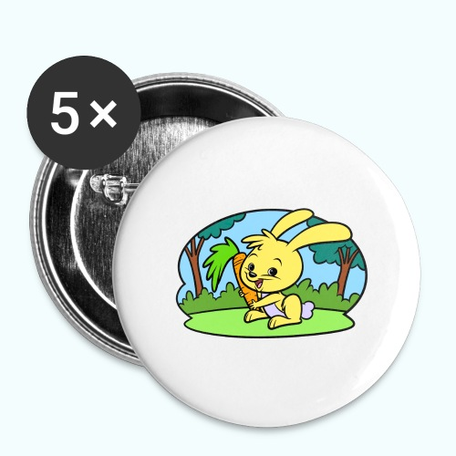 Tiny Bunny Art Collection - Buttons large 2.2''/56 mm(5-pack)