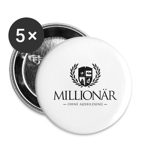 Millionär ohne Ausbildung Jacket - Buttons groß 56 mm (5er Pack)