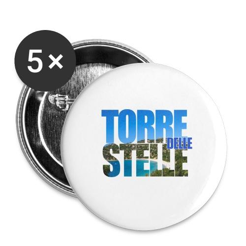 TorreTshirt - Confezione da 5 spille grandi (56 mm)