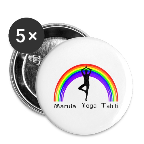 Logo de Maruia Yoga Tahiti - Lot de 5 grands badges (56 mm)
