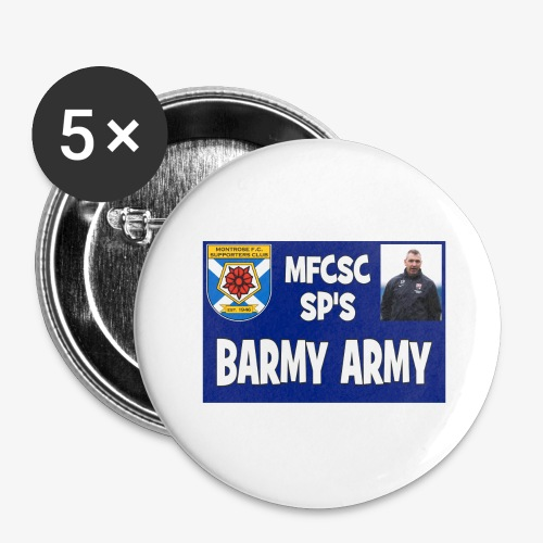 Barmy Army - Buttons large 2.2''/56 mm(5-pack)