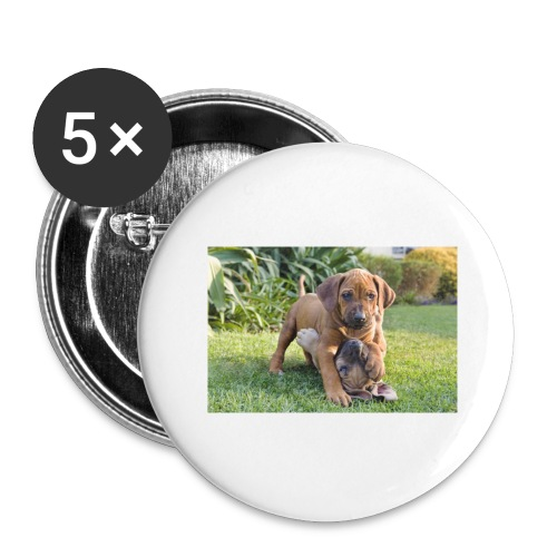 adorable puppies - Buttons large 2.2''/56 mm(5-pack)
