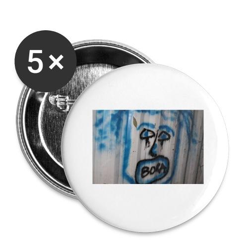 fox 2 - Lot de 5 grands badges (56 mm)