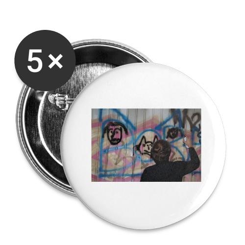 fox1 - Lot de 5 grands badges (56 mm)