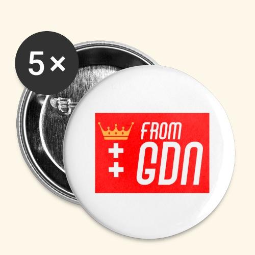 #fromGDN - Przypinka duża 56 mm (pakiet 5 szt.)