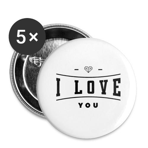 i love you2 - Przypinka duża 56 mm (pakiet 5 szt.)