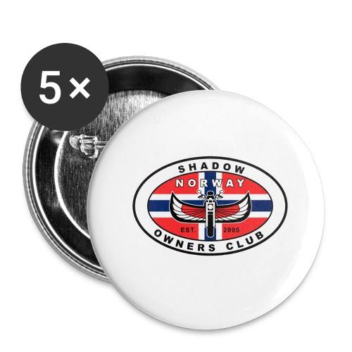 SHOC Norway Patch jpg - Stor pin 56 mm (5-er pakke)