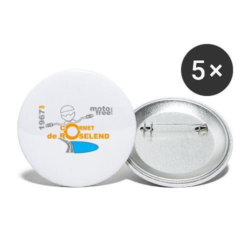 Cormet motofree - Lot de 5 grands badges (56 mm)