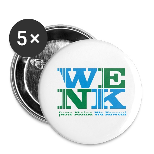 WENK - Lot de 5 grands badges (56 mm)